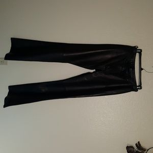 Brown leather dress pants